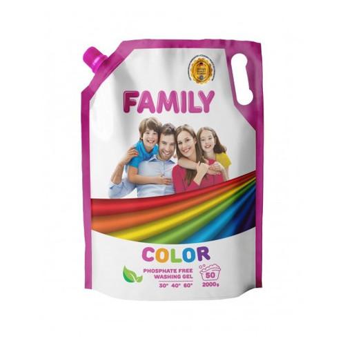Гель для стирки цветных вещей 2000 мл Doypack For My Family 601107