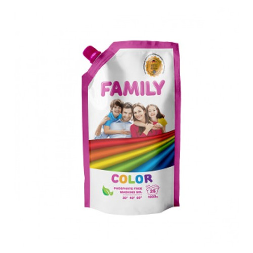 Гель для стирки цветных вещей 1000 мл Doypack For My Family 601121