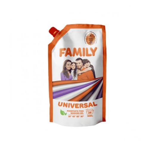 Гель для стирки универсальный 1 л Doypack For My Family 601138