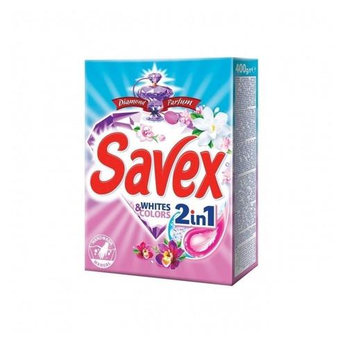 Порошок для ручной стирки 2 в 1 White And Colors Savex 400 г 017599