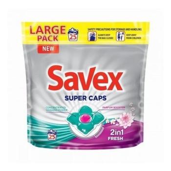 Капсулы для стирки Savex Super Caps 2in1 Fresh, 25 шт 045776