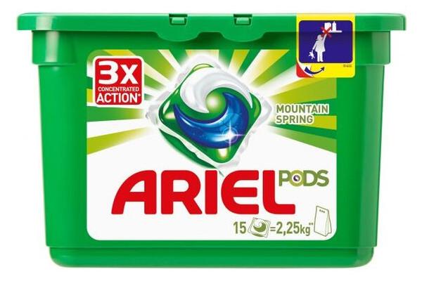 Капсулы для стирки Ariel Pods Горный родник 15шт (4015600949785)