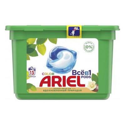 Капсулы для стирки Ariel Pods Все в 1 Масло Ши 15 шт. (8001090993229)