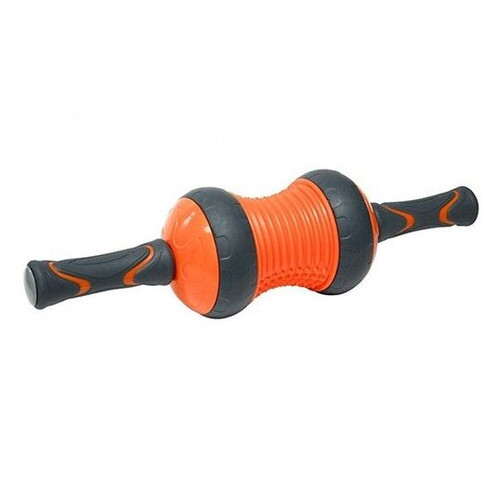 Ролик для пресса и массажа LiveUp LS9035 Черно-оранжевый (56396104)