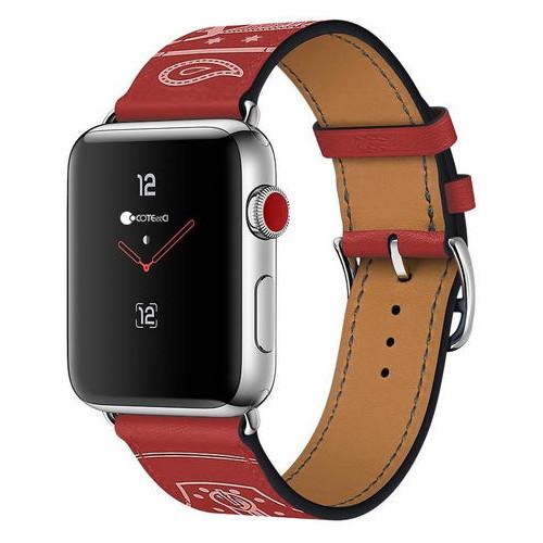 Кожаный ремешок COTEetCI W13 красный для Apple Watch 38mm