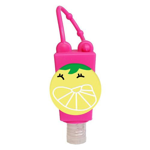 Холдер чехол Epik для санитайзера + флакон 30мл Розовый / Лимон