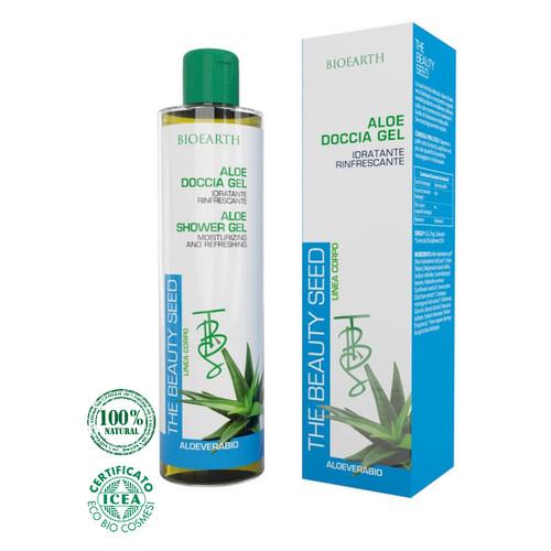 Увлажняющий и освежающий гель для душа Bioearth Beauty Seed на основе алоеэ 250мл