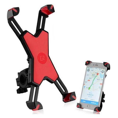 Крепление для телефона на велосипед Rockbros желтый красный (PH-666)