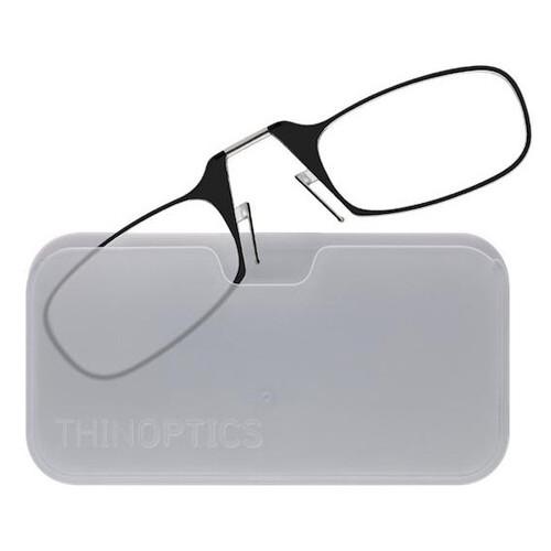 Очки для чтения Thinoptics 2.00 Черные + Чехол универсальный Прозрачный (2.0BWUP)