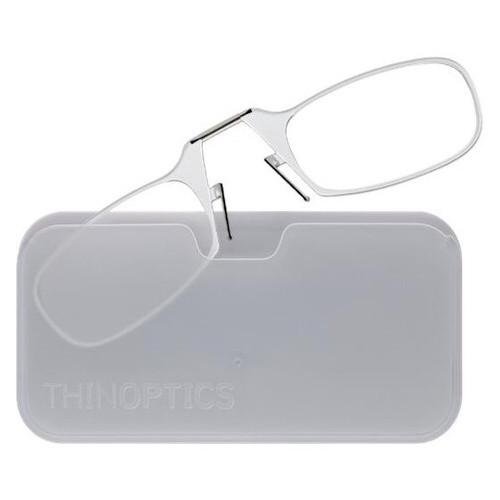 Очки для чтения Thinoptics 2.50 прозрачные + Чехол универсальный белый (2.5CWUP)