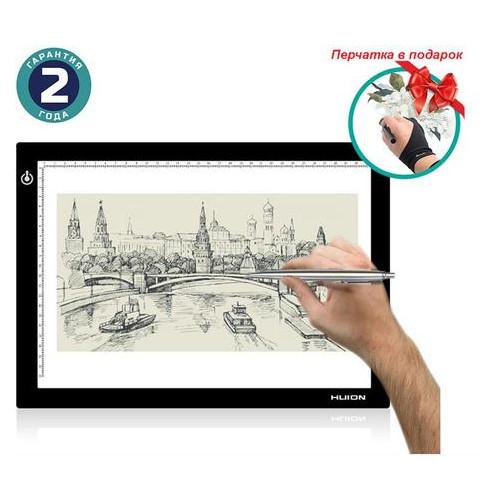 Графический планшет Huion L4S + перчатка