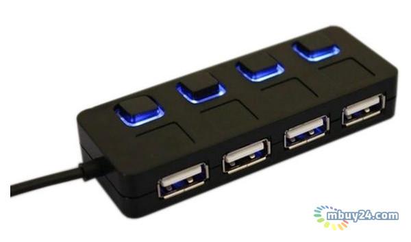 USB HUB Lapara LA-SLED4 black USB 2.0 4 ports