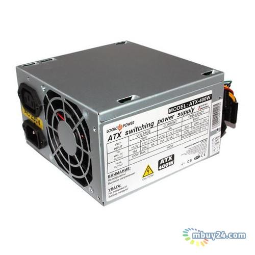 Блок питания LogicPower ATX-400W 8см без кабеля питания 2 SATA OEM
