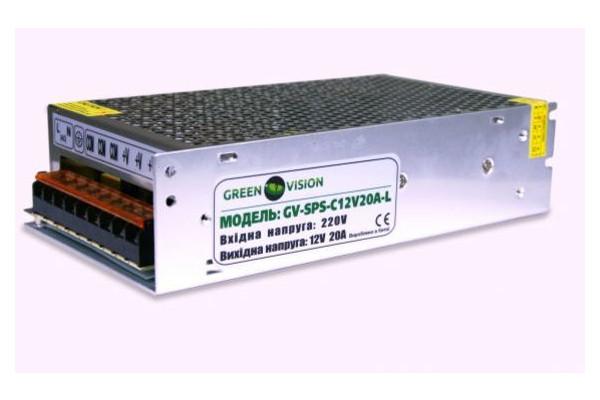 Блок питания GreenVision GV-SPS-C 12V20A-L(240W)