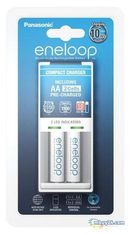 Зарядное устройство Panasonic Compact Charger+ Eneloop 2AA 1900 mAh