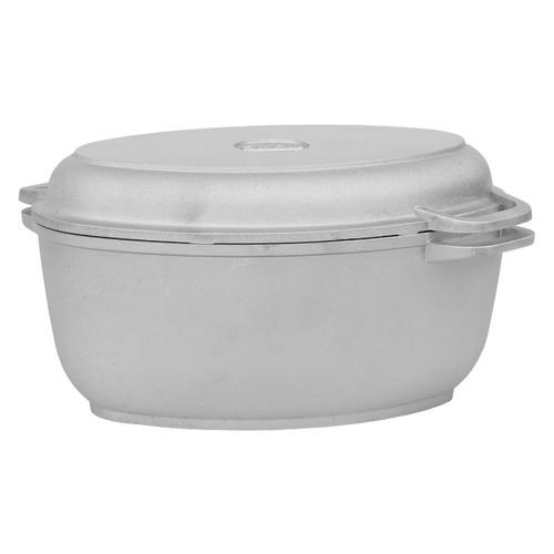Гусятница Биол алюминиевая с утолщенным дном и крышкой сковородой 2,5 л Г301
