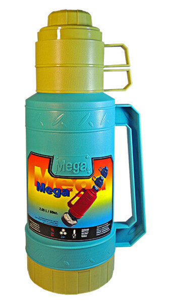 Термос Mega SO205DBS, 2,05 л  Желто-голубой
