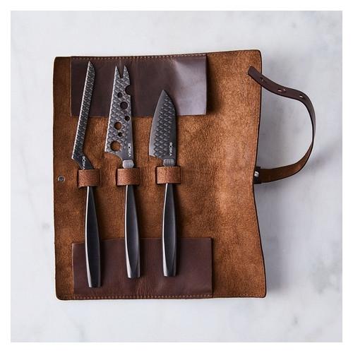 Набор ножей для сыра с кожаным чехлом Monaco Boska Holland (307089)