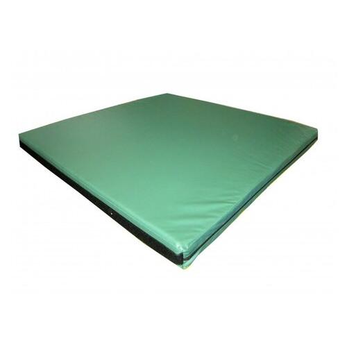 Мат спортивный Tia-Sport 100х100х10 см зеленый (sm-0107)