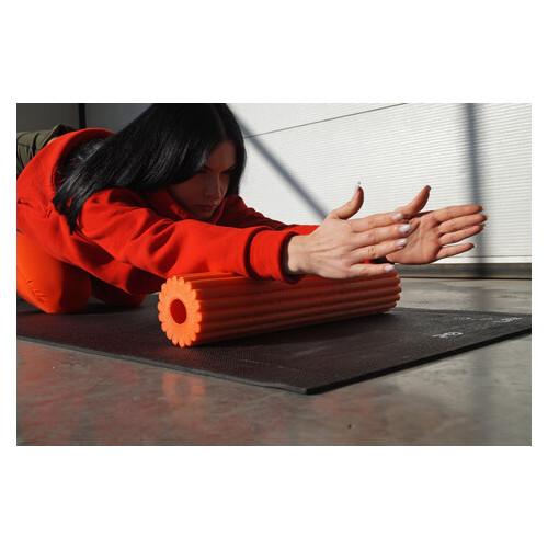 Йога роллер набор 3 в 1 PowerPlay 4022 Черно-Оранжевый