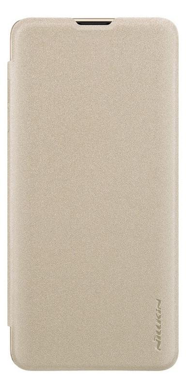 Чехол Nillkin Sparkle Leather Case Samsung Galaxy S10 (SM-G973) Gold