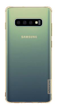 Чехол TPU Nillkin Nature Series Samsung Galaxy S10 Золотой (прозрачный)