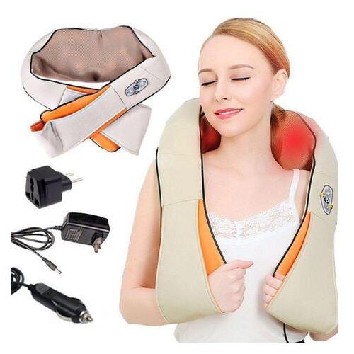 Электрический массажер роликовый с инфракрасным излучением, массажер Massager of Neck Kneading