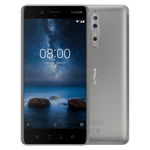 Смартфон Nokia 8 4/64GB Silver *EU