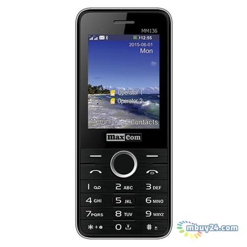 Мобильный телефон Maxcom MM136 Dual Sim Black-Silver (5908235973524)