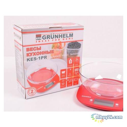 Весы кухонные Grunhelm KES-1PR Красные