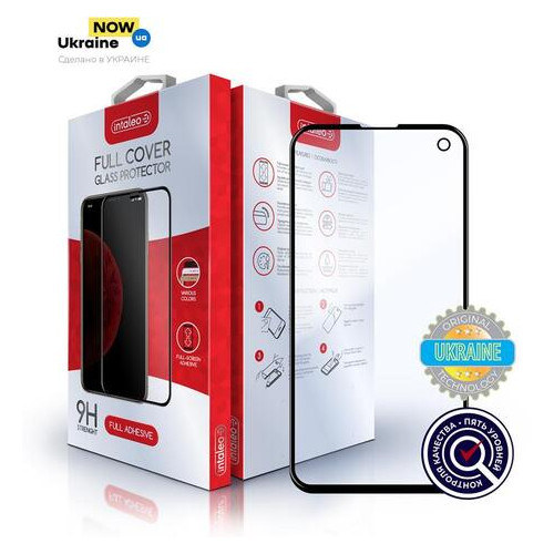 Защитное стекло Intaleo Samsung Galaxy S10e SM-G970 SM-N770 Full Glue Black (1283126491726)