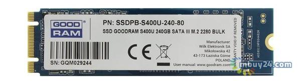 SSD накопитель Goodram S400U 240GB M.2 SATA TLC (SSDPR-S400U-240-80)