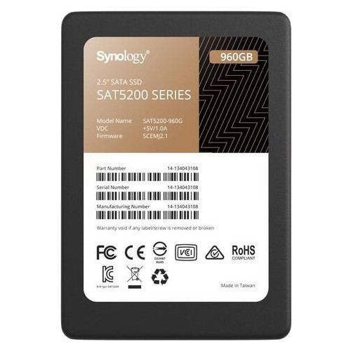 Твердотельный накопитель SSD Synology Sata 2.5 960GB (JN63SAT5200-960G)