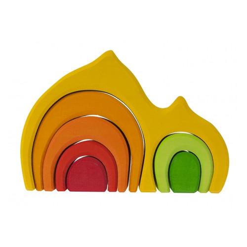 Конструктор деревянный Nic Дом Габли Желтый NIC523022