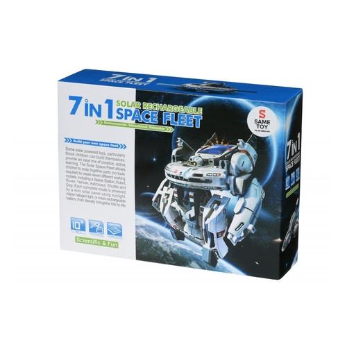 Робот-конструктор Same Toy Космический флот 7 в 1 на солнечной батарее (2117UT)