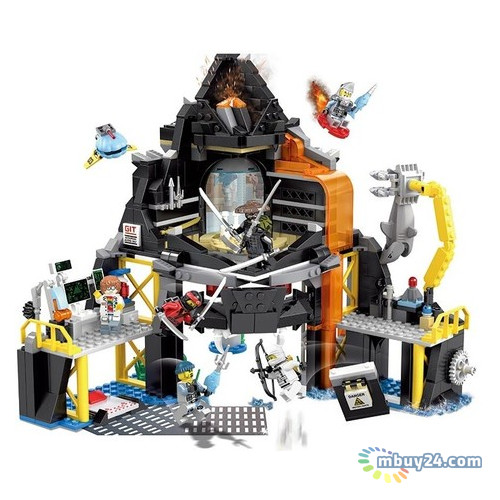 Конструктор JVToy Ninja Heroes Дом-вулкан Гармадона (16007)