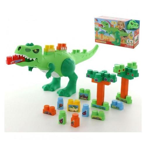 Набор Molto-Polesie Динозавр + конструктор 30 элементов (67807)