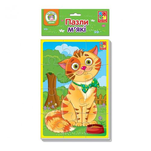 Мягкие пазлы Vladi Toys А5 Котик и песик (VT1103-43)