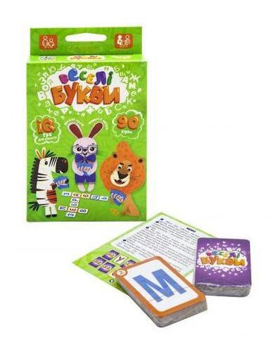 Карточная игра Danko Toys Весёлые буквы укр.