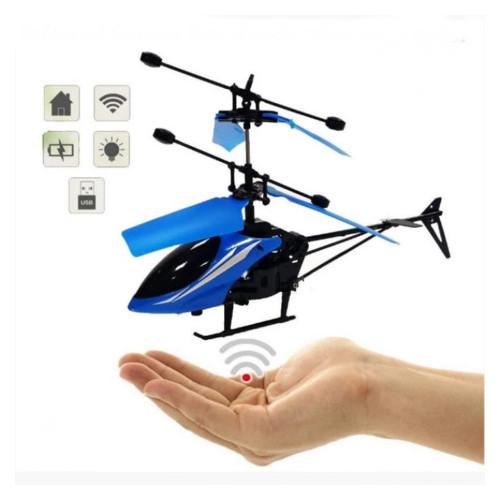 Вертолет летающий Induction Aircraft + пульт управления Синий (55500939)