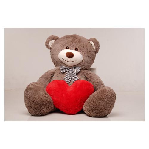 Большая мягкая игрушка мишка с сердцем Yarokuz Билли 150 см Капучино