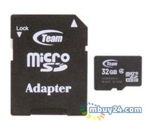 Карта памяти Team 32GB microSDHC Class 4 (adapter SD) (TUSDH32GCL403)