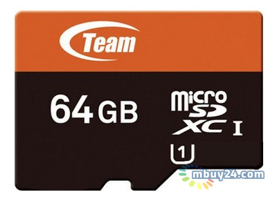 Карта памяти Team microSDXC 64GB Class 10 UHS-I (SD adapter) (TUSDX64GUHS03)