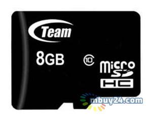 Карта памяти Team microSDHC 8GB Class 10 (SD adapter) (TUSDH8GCL1003)