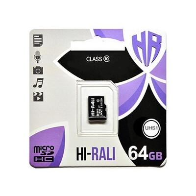 Карта памяти MicroSDXC 64GB Class 10 Hi-Rali (HI-64GBSDCXCL10-00)