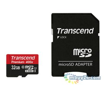 Карта памяти Transcend microSDHC 32GB Class 10 UHS-I (adapter SD) (TS32GUSDU1)