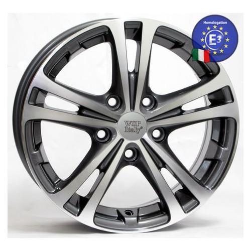 Диски WSP Italy SKODA WSP Italy 7,0x17 DANUBIO SK02 W3502 5x112 54 57,1 ANTHRACITE POLISHED ()