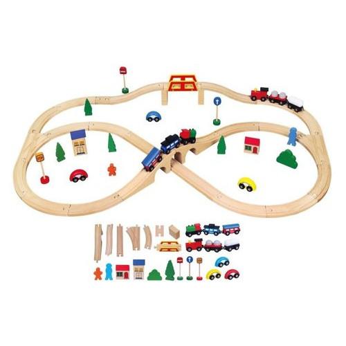 Игрушка Viga Toys Железная дорога 49 деталей (56304)