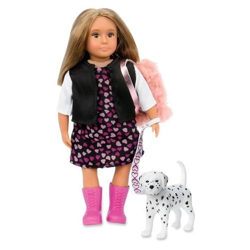 Кукла Lori 15 см Гиа с собачкой Далматинец (LO31058Z)