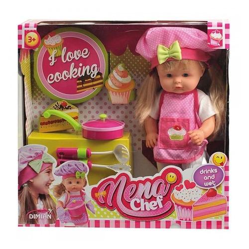 Говорящая кукла Bambolina Nena Маленький повар 36 см (BD387-50SUA)